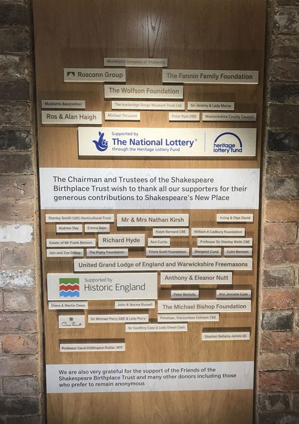 News - Group - Sponsorship of New Place Learning Rooms