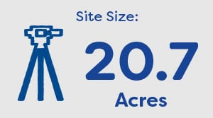 Long Itchington - Site Size