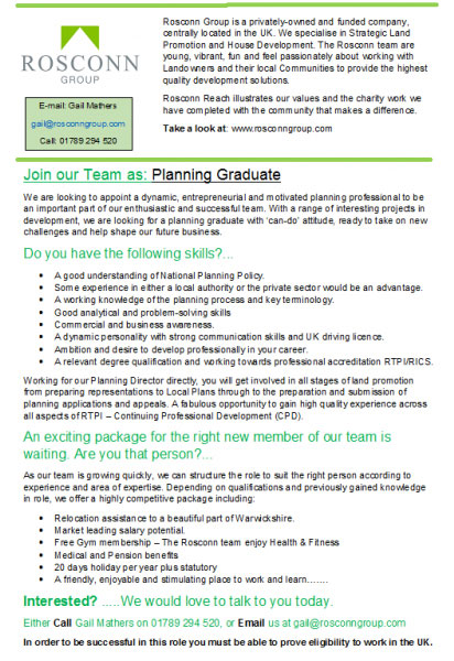 Exciting Opportunity for Planning Graduate to Join the Team - Image 2