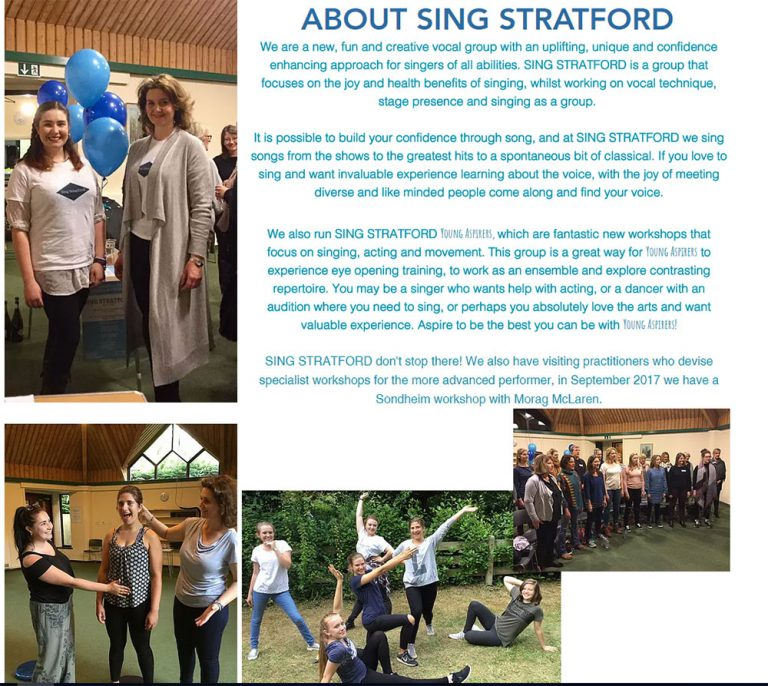 News - Group - Rosconn Group supports Sing Stratford - Sondheim in September - Sunday, 17th