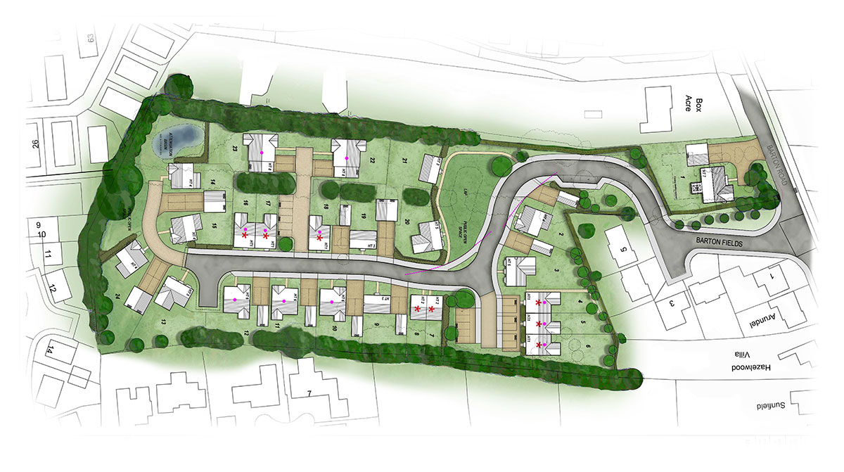 Case Study Barton Road Welford Site Plan