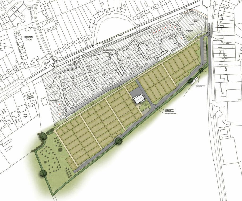 Wolston Stretton Road Allotment Site Plan