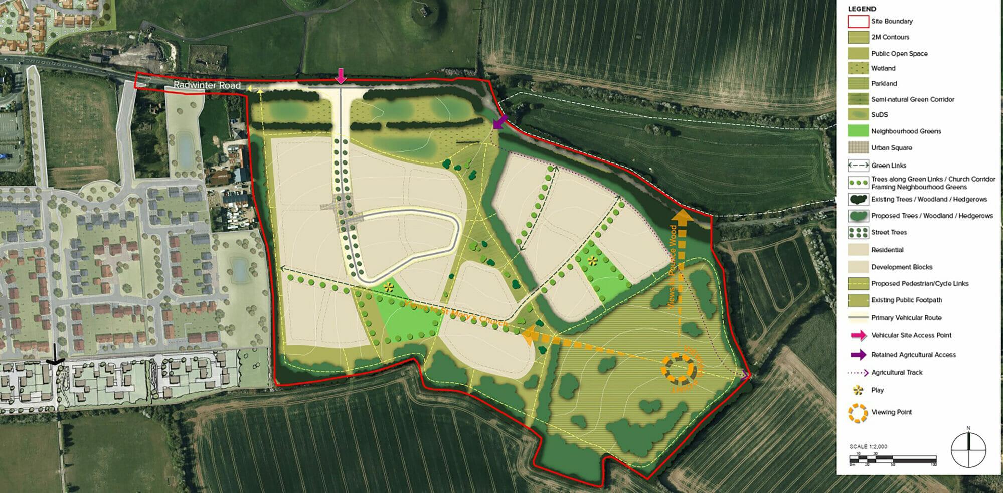 Saffron Walden site plan